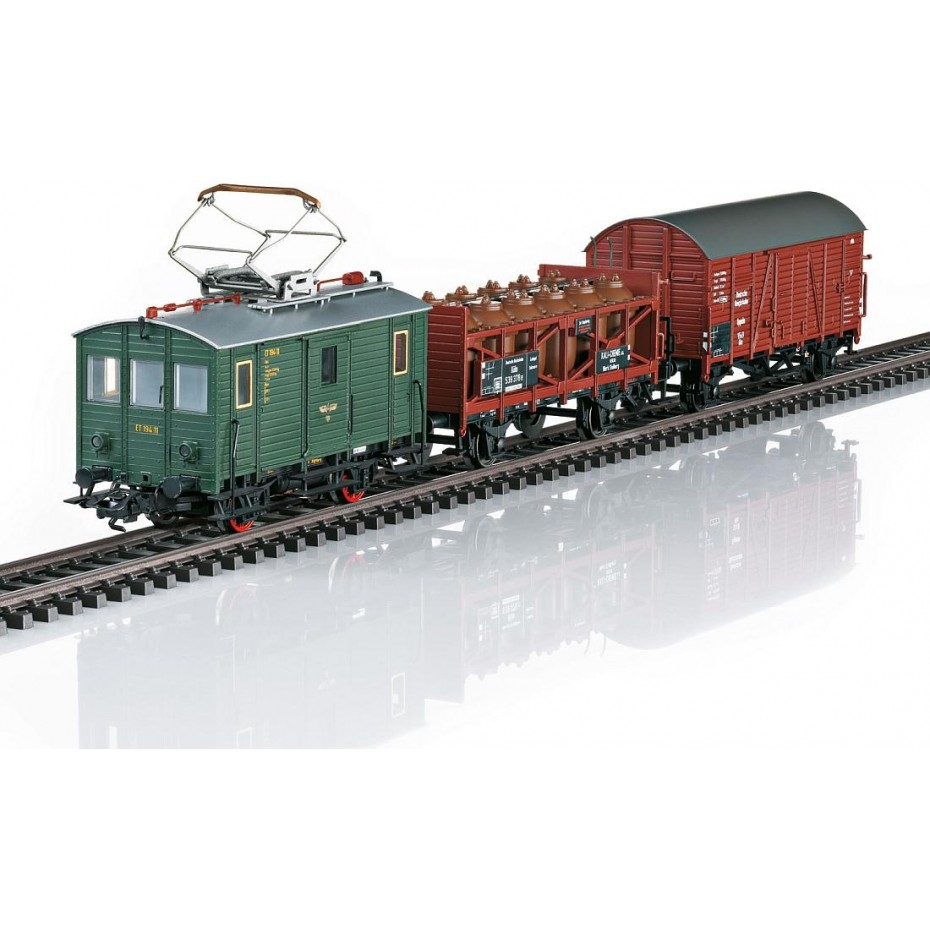 TRIX - 21194 - Freight Train Cars set with Loco RailCar DCC/Sound HO Gauge
