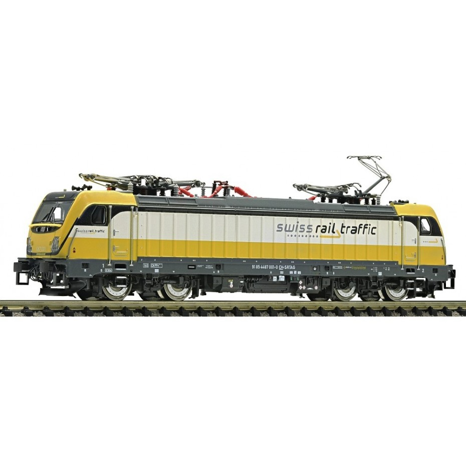 FLEISCHMANN - 738972 - Electric Locomotive Rh 487 Swiss R. DCC Sound PRIV EpVI (N SCALE)