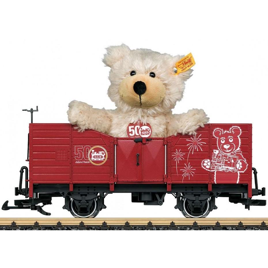 LGB - 42229 - Freight Wagon with Steiff Teddy , G gauge 1:22.5