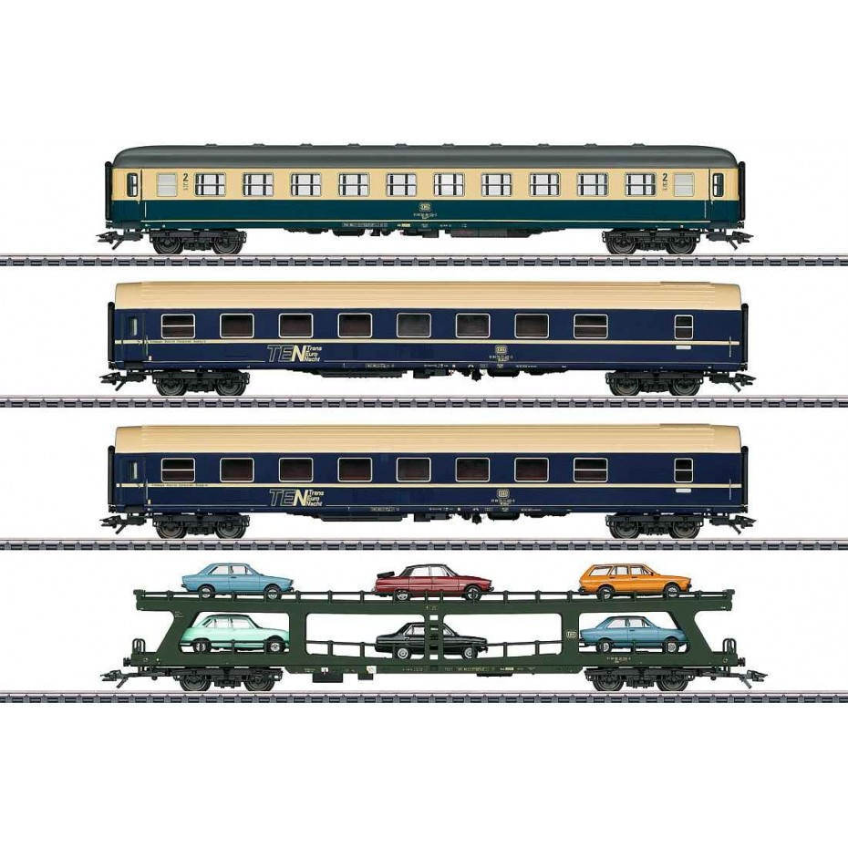 MARKLIN - 42999 - HO SCALE AUTO TRAIN SET 3 RAIL AC