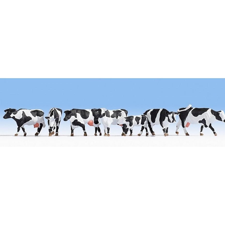 NOCH - 15725 - Cows, black-white-H0