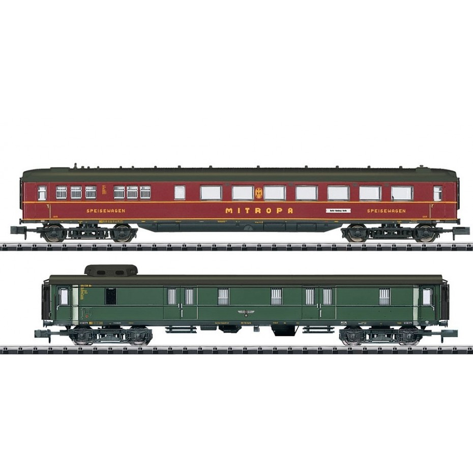 Minitrix - 15801 - 15801 - Express Coaches DRB Car-Set N Gauge