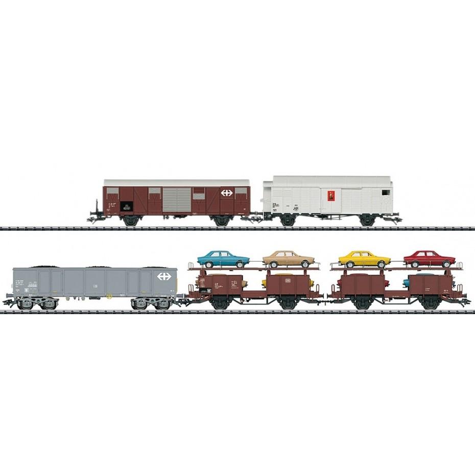 TRIX - 23567 - Freightwag.-Set Rang.-Krokodil (HO SCALE)