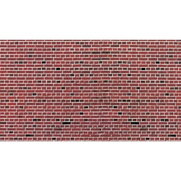 VOLLMER - 46042 - H0 Wall plate red brick of cardboard 25 x 12,5 cm
