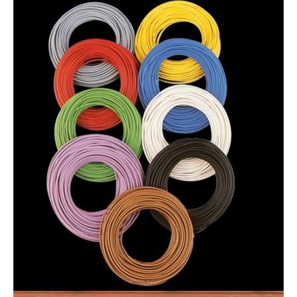 BRAWA - 32400 - Decoder Wire 0,05 mmý, 10 m ring, violett