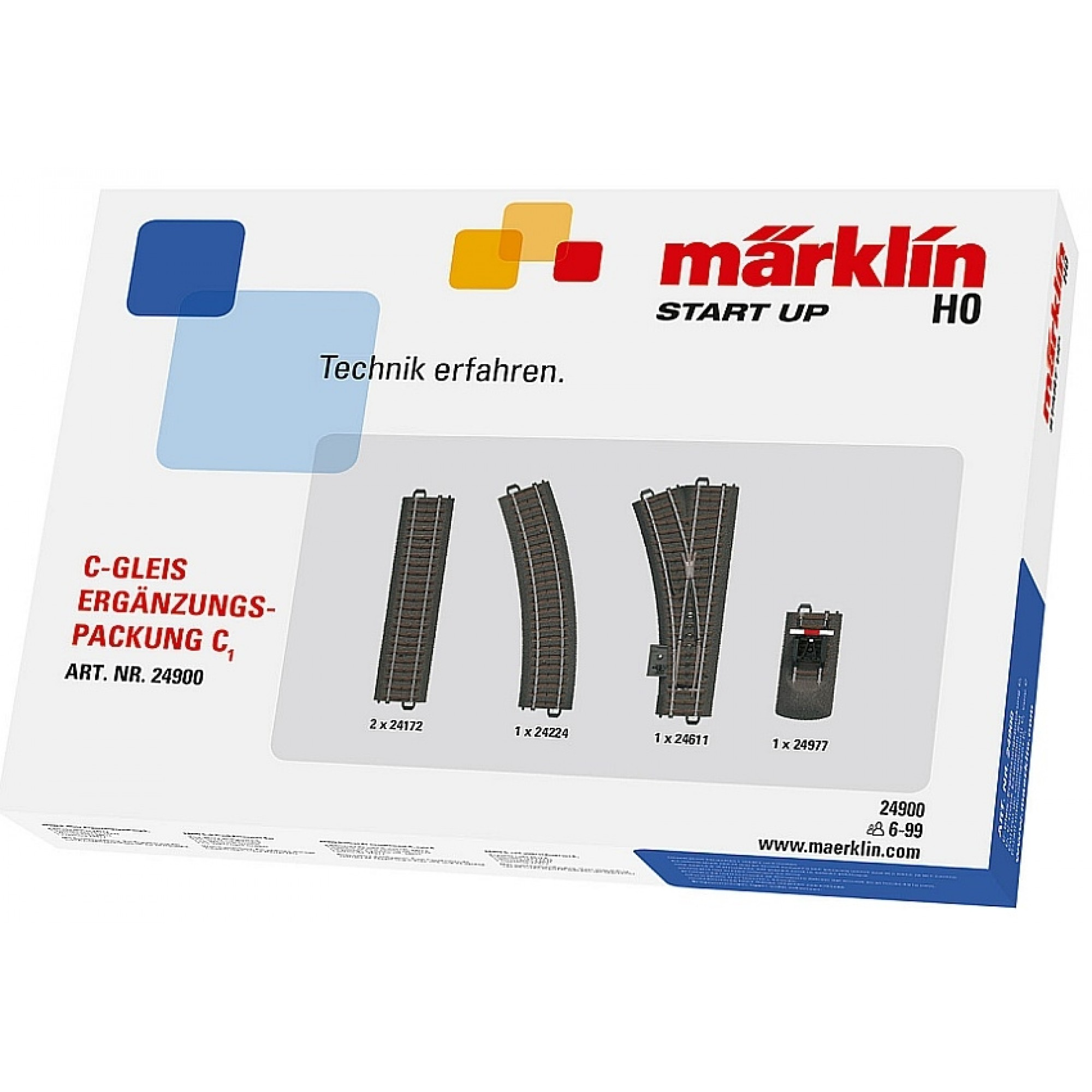 MARKLIN - 024900 - C-Track Extension Pack C1 HO 3 rail C Track