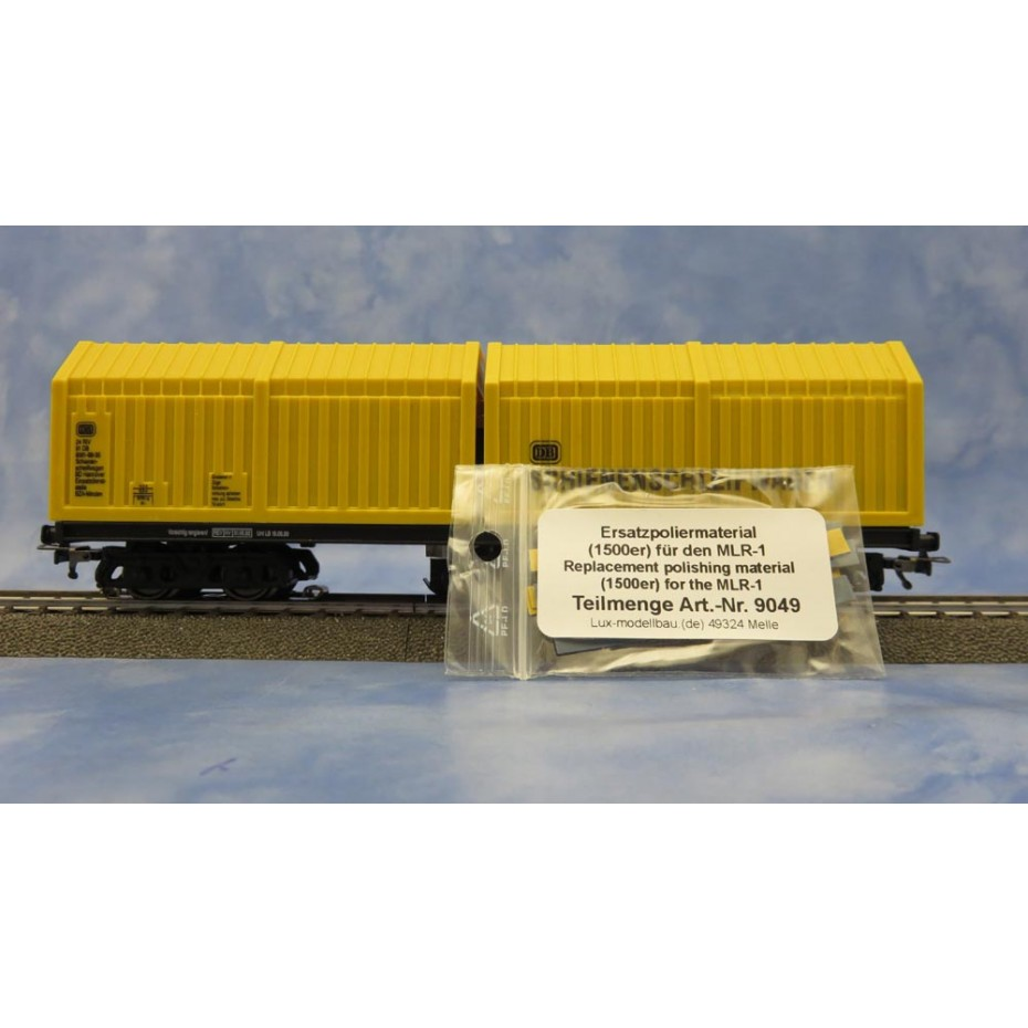 LUX-MODELLBAU - E9136 - MLR -1 MID-POINT CONDUCTOR CLEANING WAGON 3 RAIL