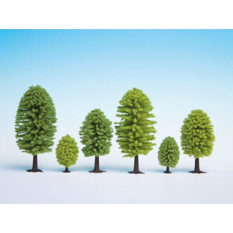 NOCH - 26902 - Deciduous Trees, 5 pieces, 5 - 9 cm high H0,TT