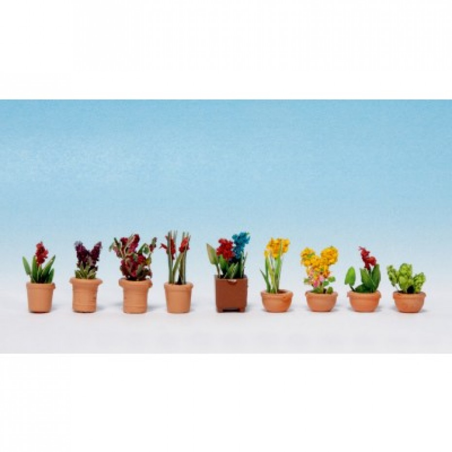 NOCH - 14080 - Ornamental Plants in Pots 9 flower pots N gauge