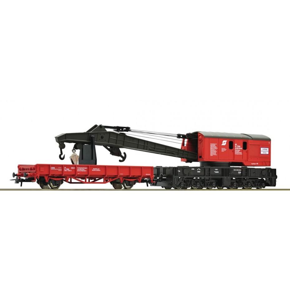 ROCO - 56239 - Crane+barrier wag.,ÖBB ep.IV-V ÖBB HO scale