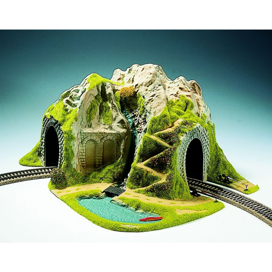 NOCH - 05170 - Tunnel Single Track, curved, 41 x 37 cm H0