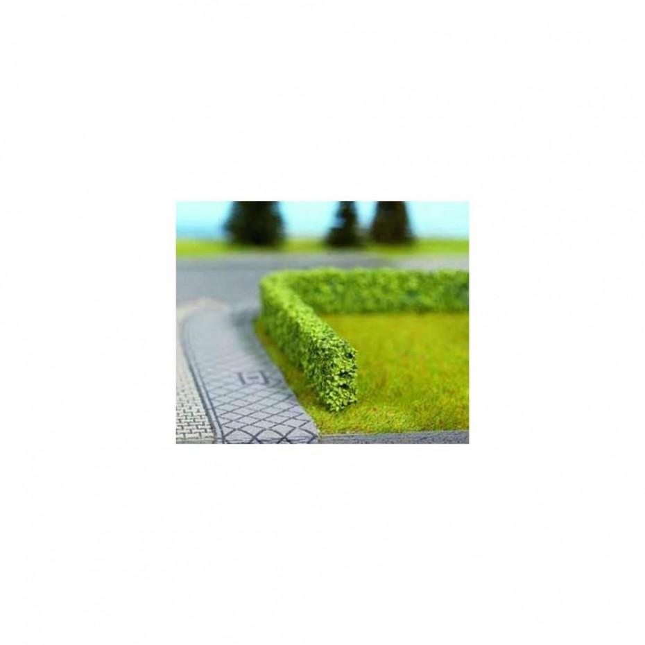 NOCH - 21512 - Model Hedges green, 2 pieces, 1,5 x 0,8 cm, each 50 cm long H0,TT,N