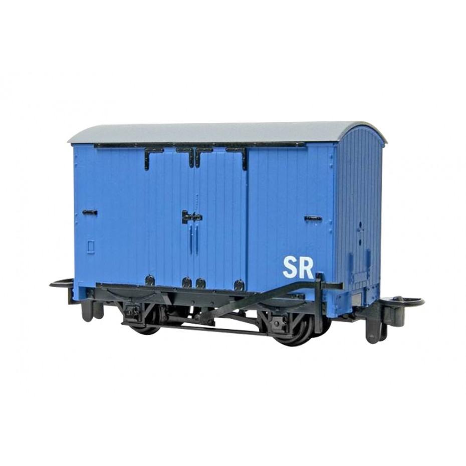 BACHMANN - 77202 - NARROW GAUGE BOX VAN - BLUE - HOe GAUGE