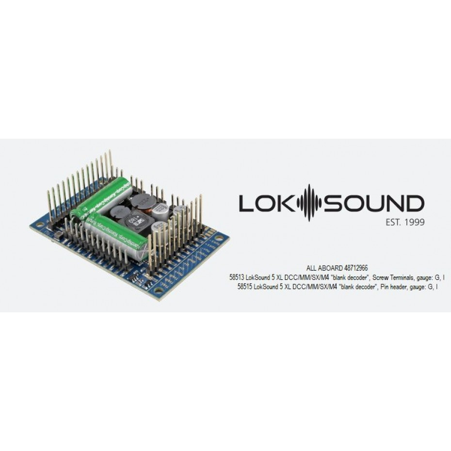 ESU - 58515 - LOKSOUND 5 XL PINHEAD DCC / MM / SX / M4 SOUND