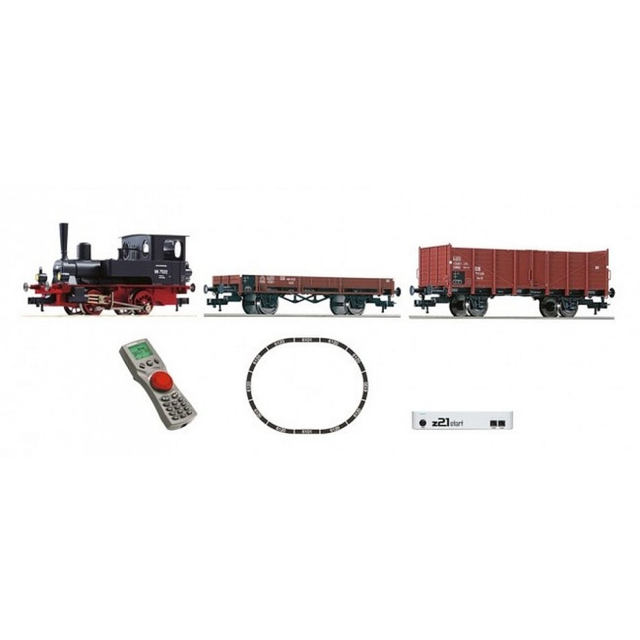 FLEISCHMANN - 631881 - Z21 Digital Starter Set: Loco 98.75 & goods train, DB HO Gauge - Ep III