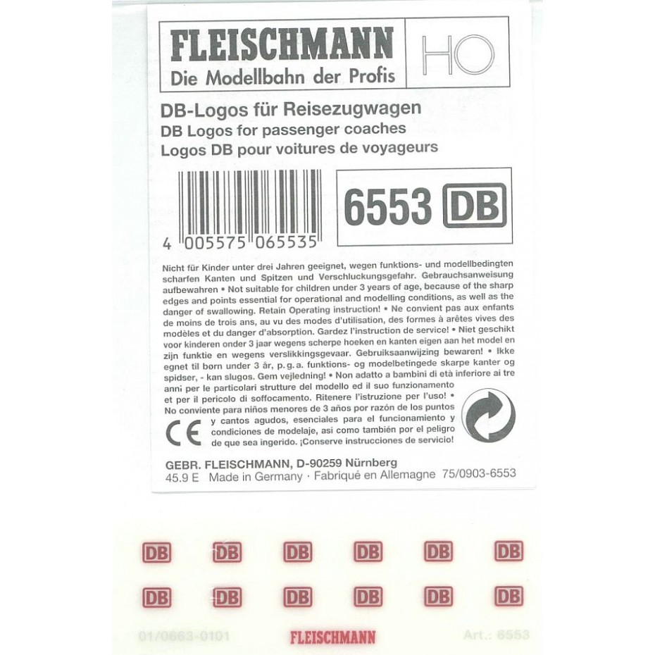 FLEISCHMANN -6553-DB logos for pass. train