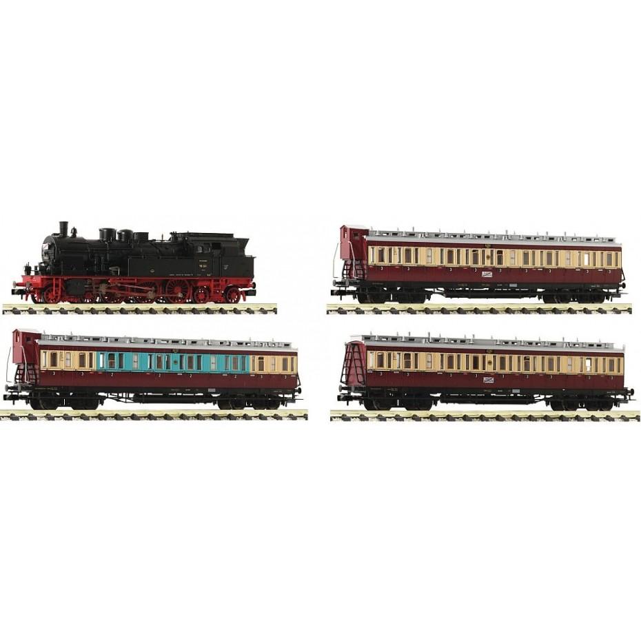 Fleischmann - 781289 - 4 piece set: Fast traffic Ruhr Schnellverkehr DRG ep.II N Scale