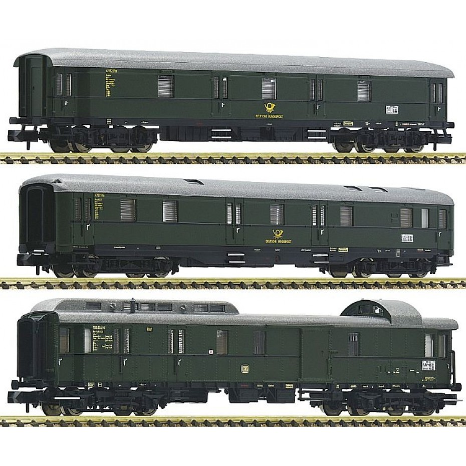 Fleischmann - 814509 - 3 piece set mail train DB ep.III N Scale