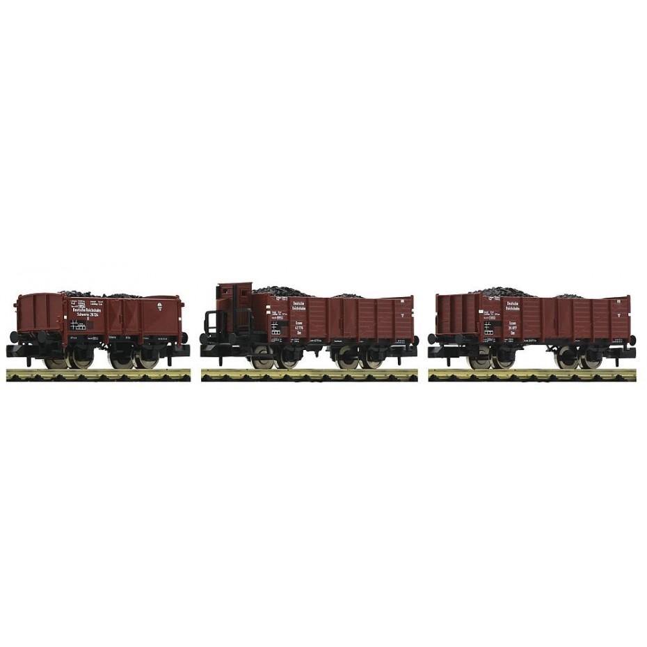 Fleischmann - 820803 - 3 piece set coal train DRB N DRB Ep. II DC