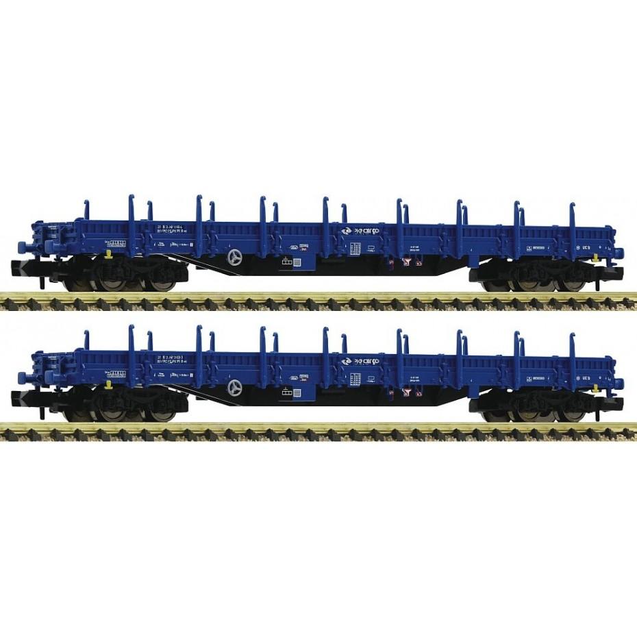 Fleischmann - 828825 - 2 piece set stake wagons PKP ep.VI N Scale
