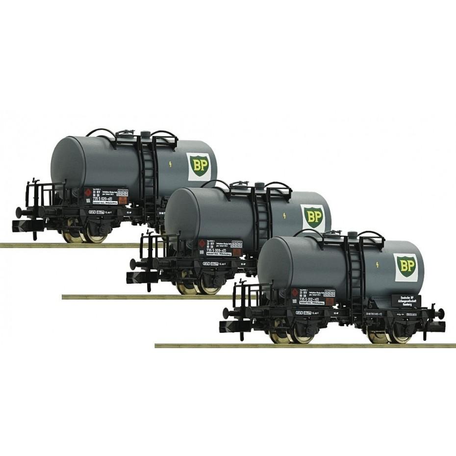 FLEISCHMANN - 841202 - N Gauge BP Tank Wagons - 3 set - N Gauge
