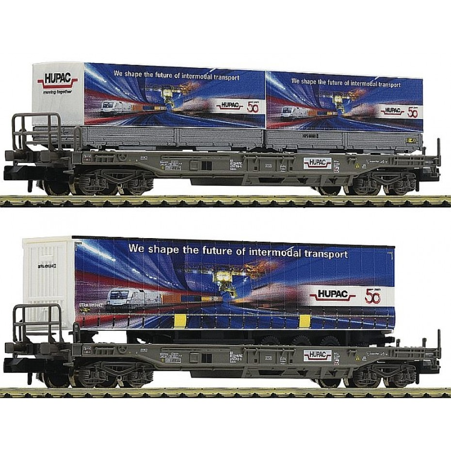 FLEISCHMANN - 845321 - 2pc.set standard pocket wagons with trailer of th ep.VI HUPAC N Scale
