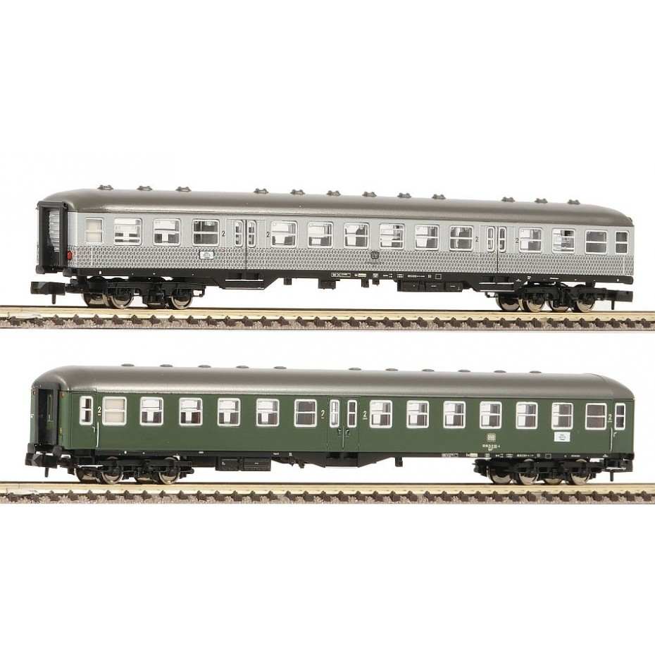 FLEISCHMANN - 881812 - 2 piece Classic express Passenger Coach train set Part 2, DB - N Gauge - Ep IV