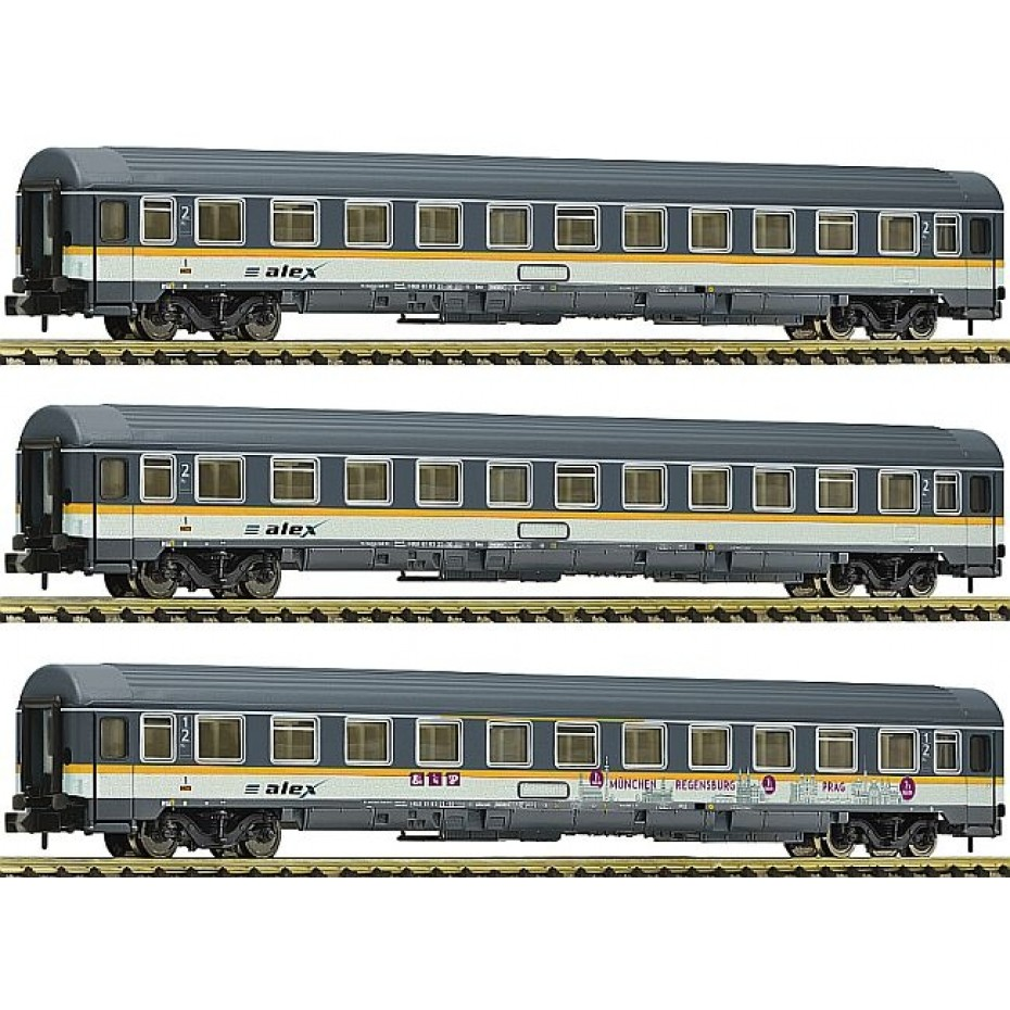 Fleischmann - 881901 - 3 piece set Eurofima coaches Alex ep.VI N Scale