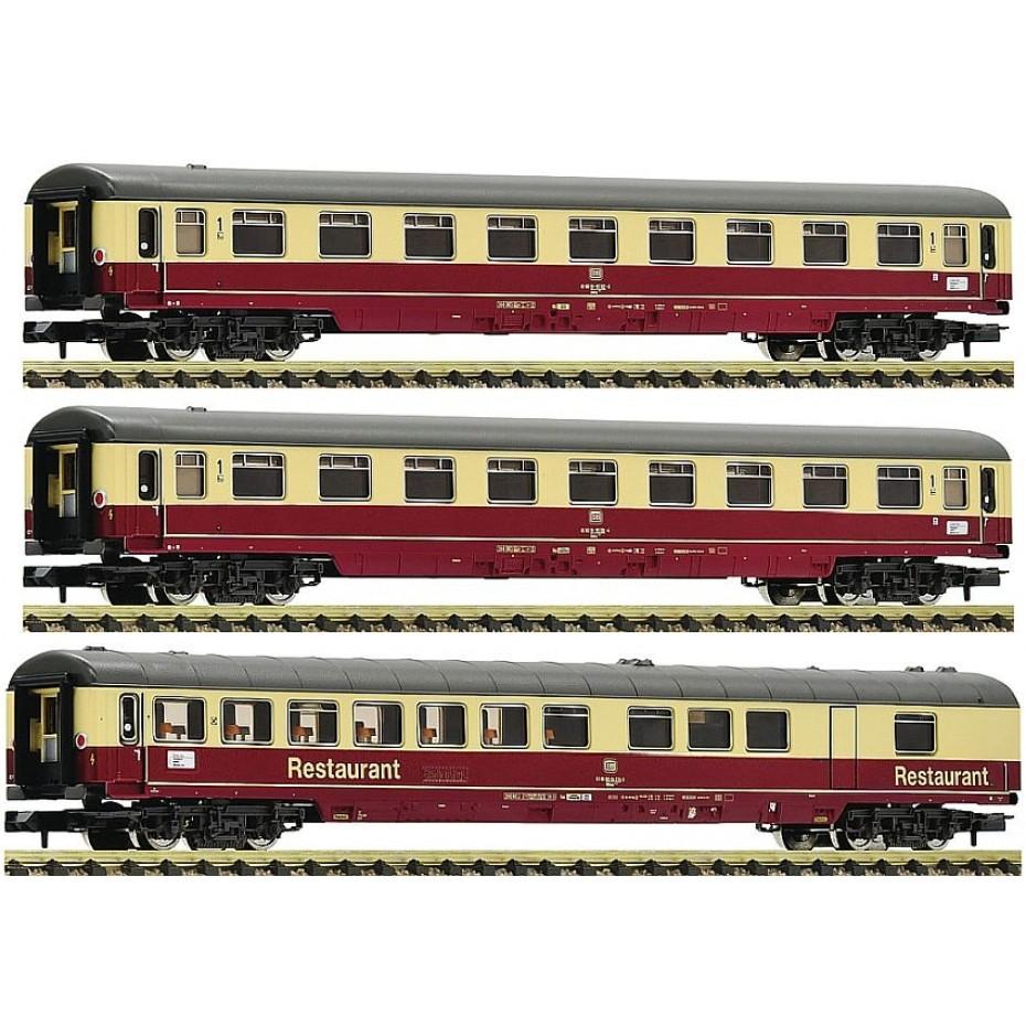 Fleischmann - 881912 - 3 piece set 2: Motorail train Christoforus DB ep.IV N Scale