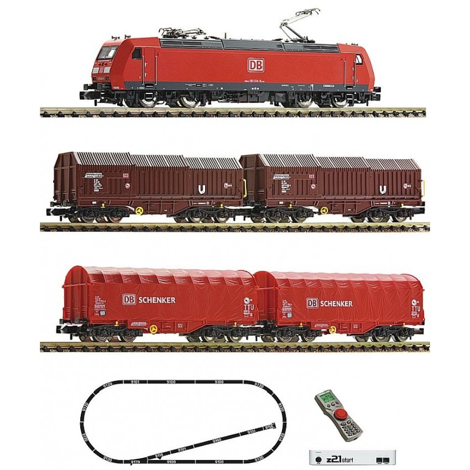 Fleischmann - 931885 - z21®start Digital starter set with electric locomotive class 185.1 and goods train DB AG N DB-AG Ep. VI DCC