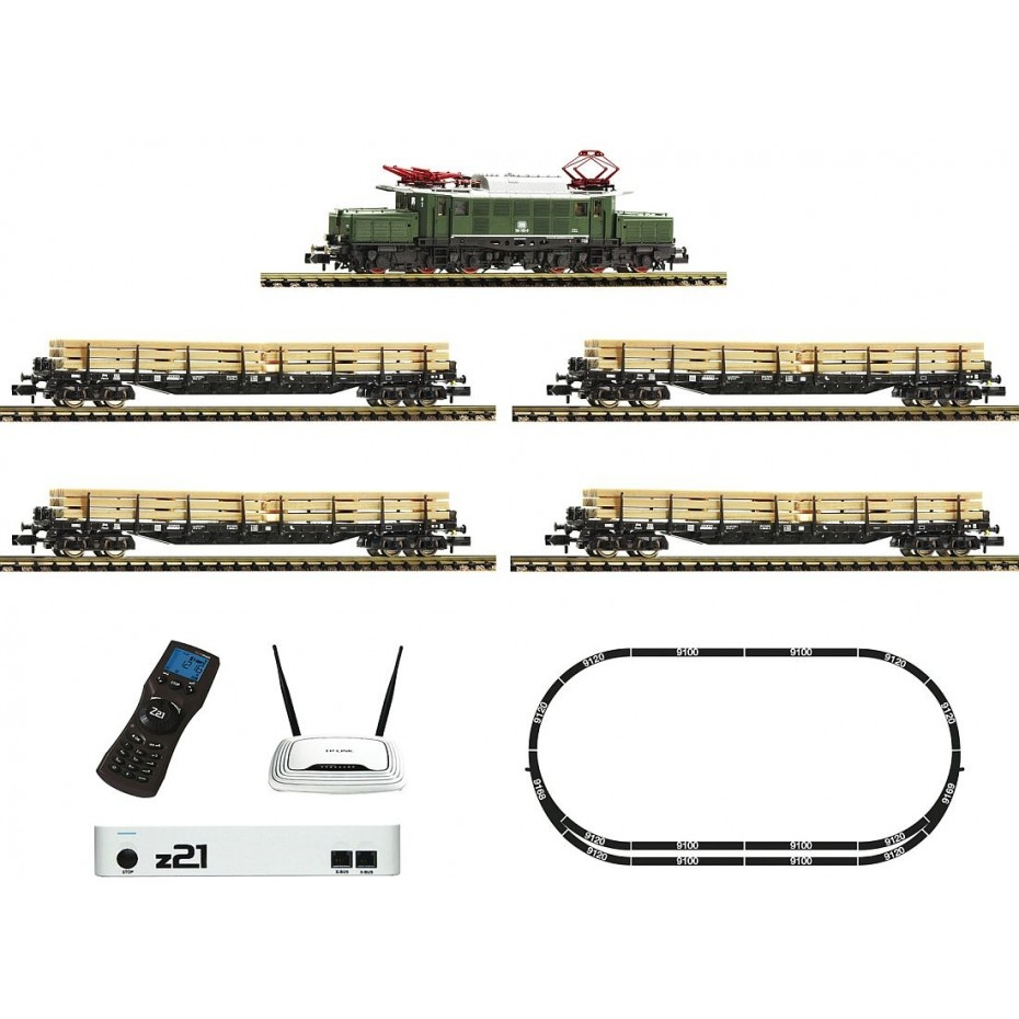 Fleischmann - 931886 - z21® Digital starter set: electric locomotive class 194 with goods train DB N DB Ep. IV DCC SOUND