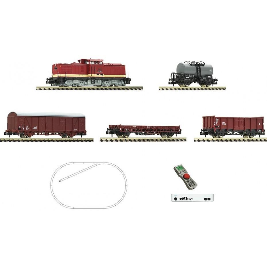 Fleischmann - 931892 - z21 start digital set: Diesel locomotive class 110 and goods train DR ep.IV N Scale