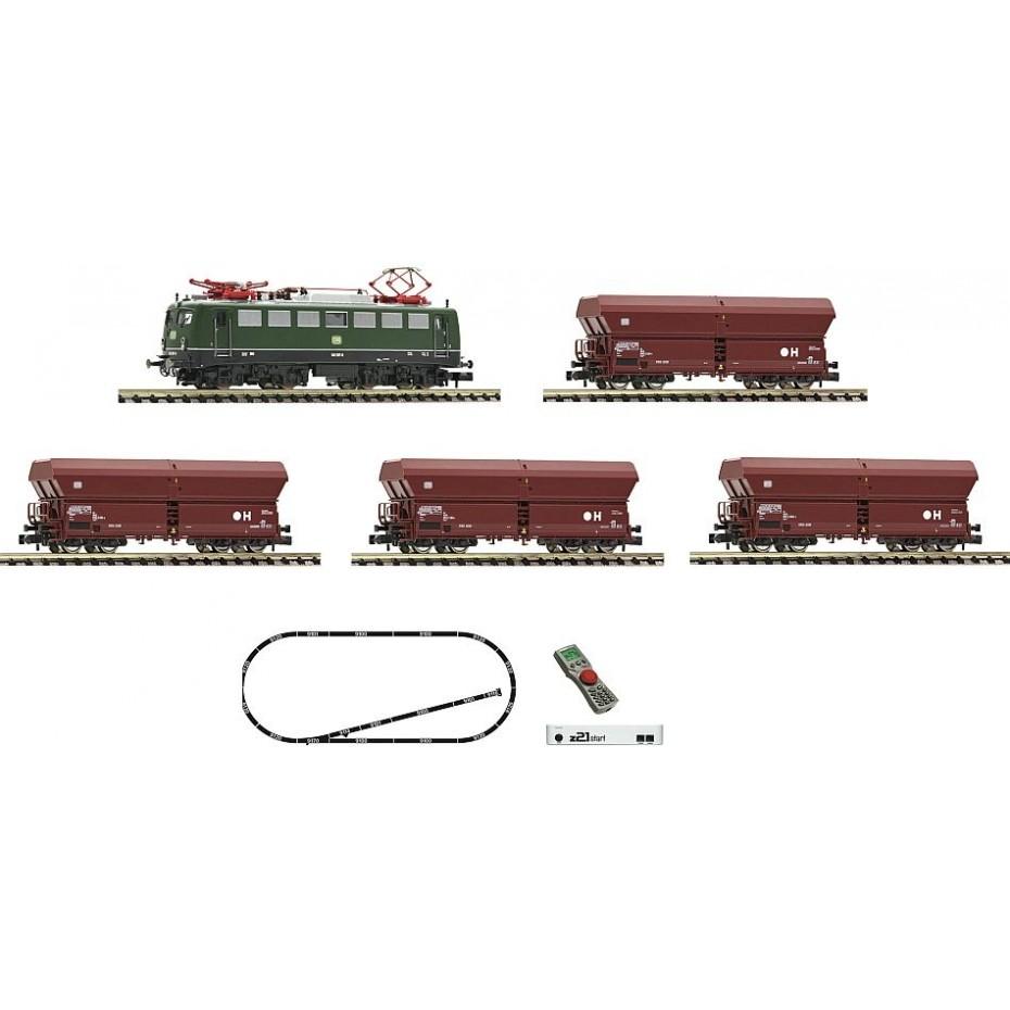 Fleischmann - 931895 - z21 start digital set: Electric locomotive class 140 and goods train DB ep.IV N Scale