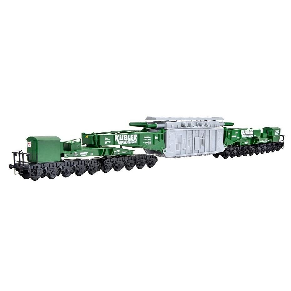 Kibri - 16500 - H0 MAN Uaai 687.9 low-loader waggon KÜBLERwith transformer