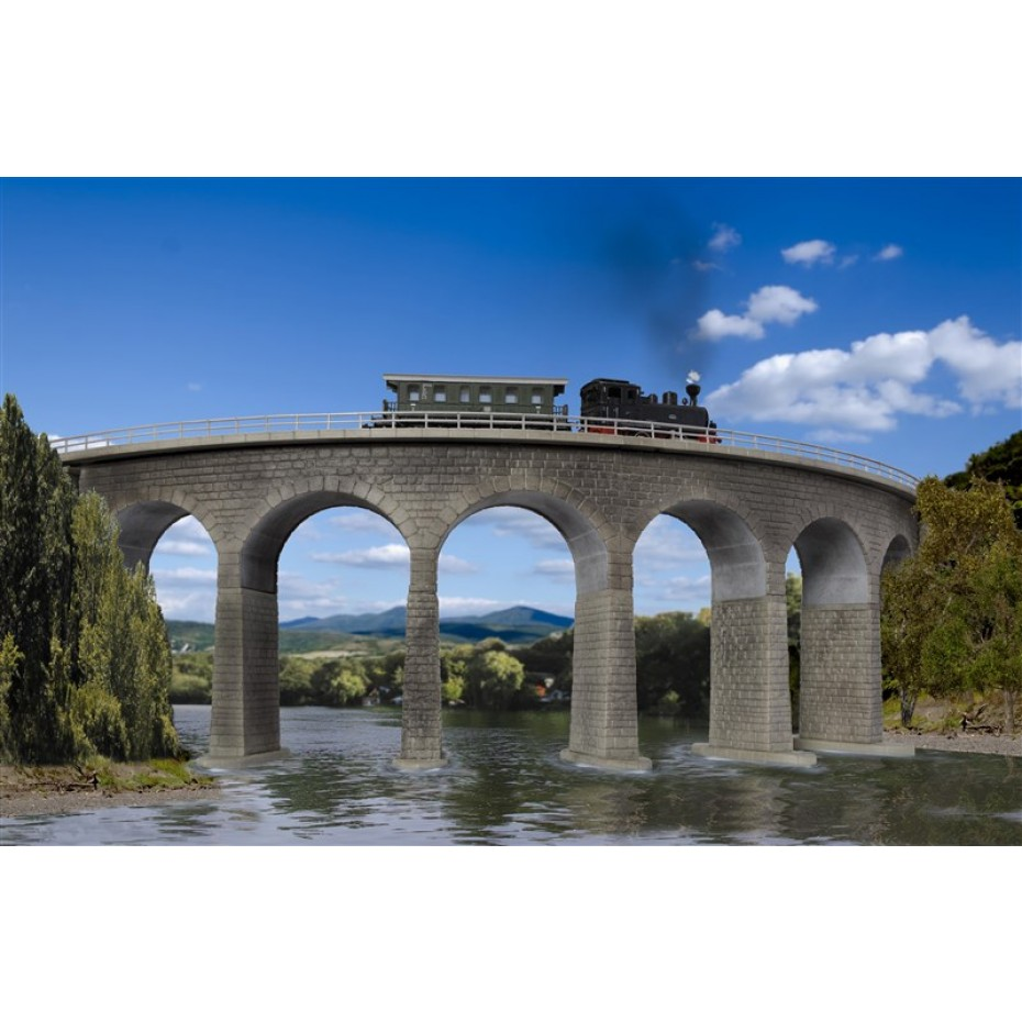 Kibri - 37665 - N/Z Albula viaduct with ice breaking foundations, curved, single track