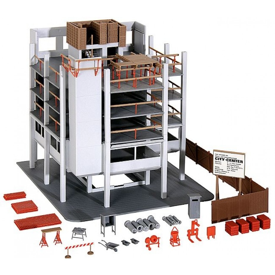 Kibri - 38537 - H0 High-rise shell construction with accessories