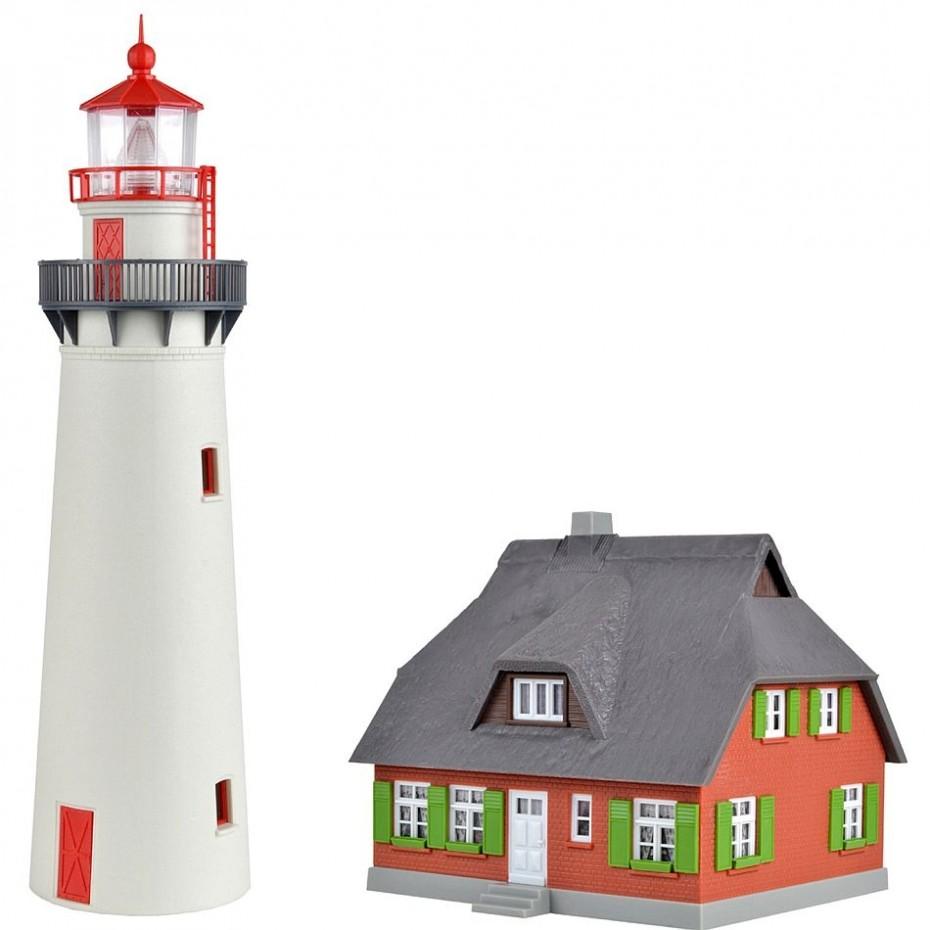 Kibri - 39153 - H0 Lighthouse Hiddensee with annexe