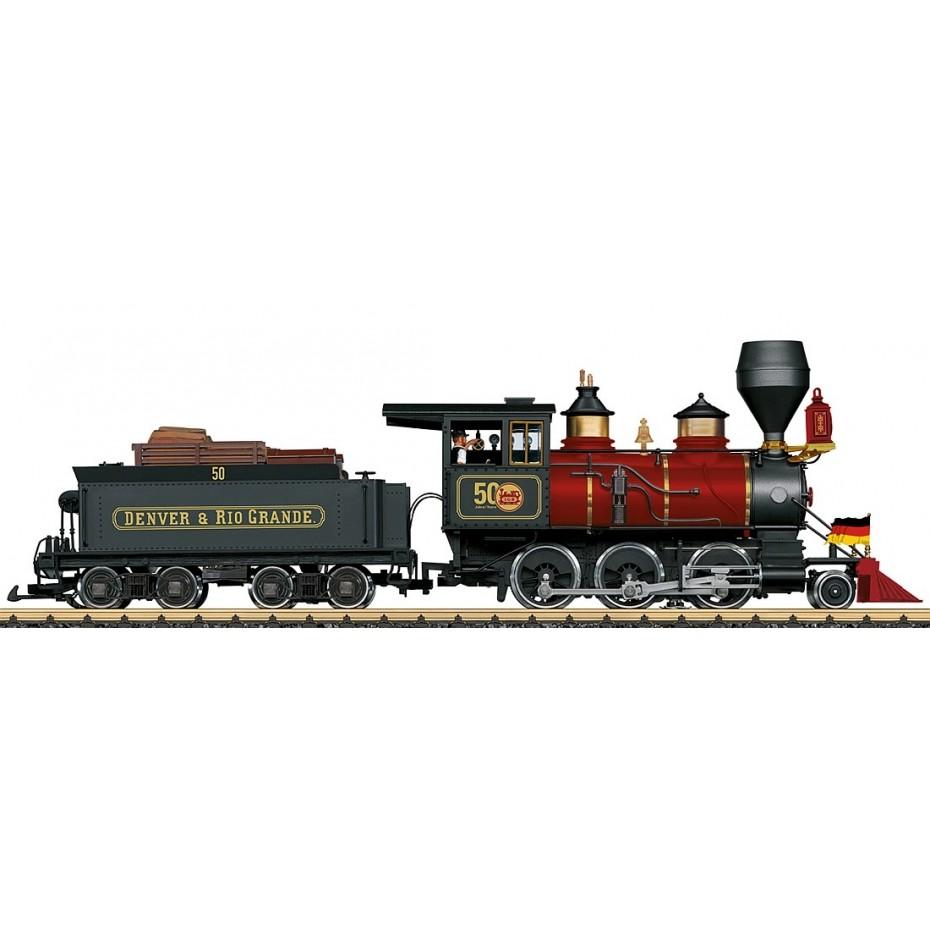 LGB - 20280 - Steam Loco Mogul DRGW 50 Year Model DCC Sound , G gauge 1:22.5