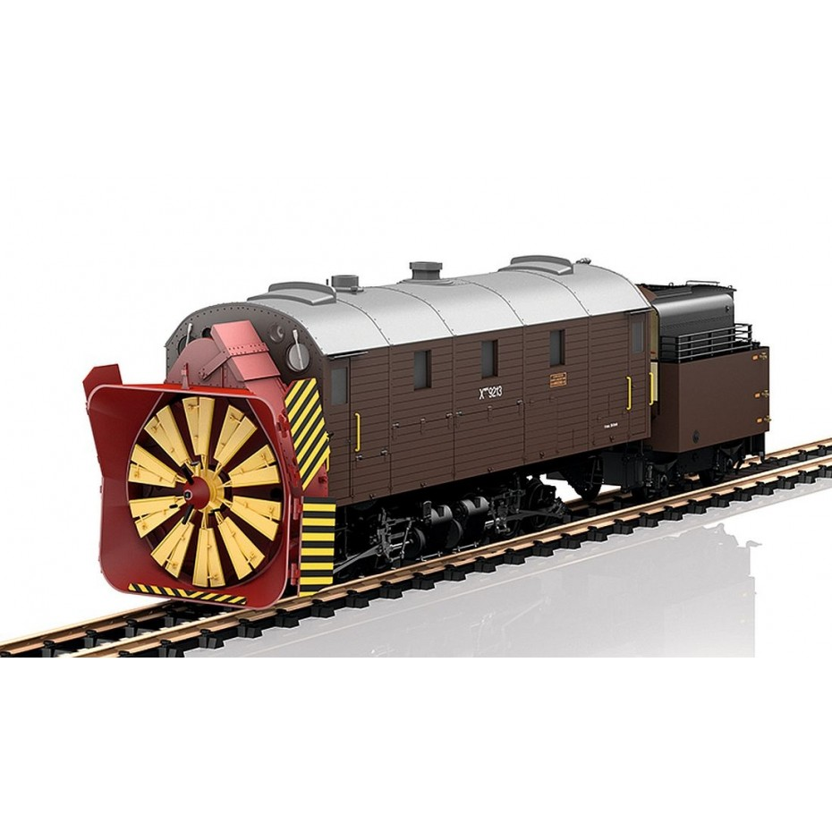 LGB - 26605 - Steam Snowthrower RhB DCC Sound , G gauge 1:22.5