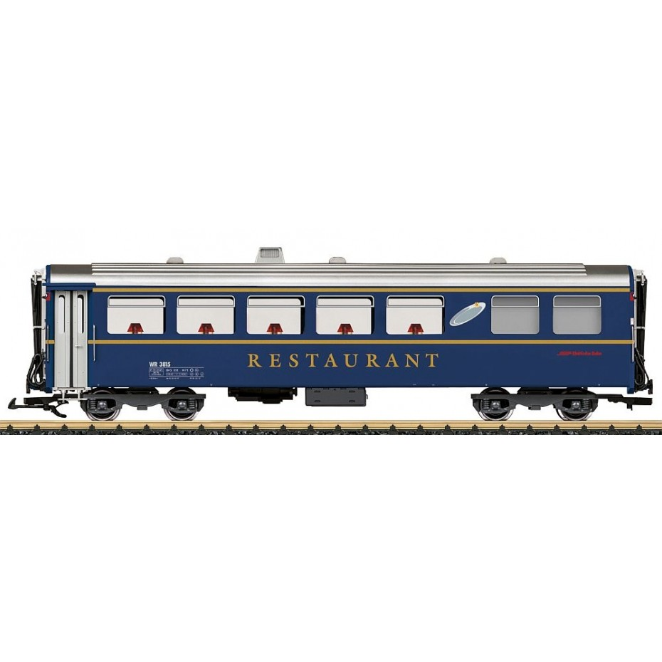 LGB - 31681 - Dining car WR 3815 RhB , G gauge 1:22.5