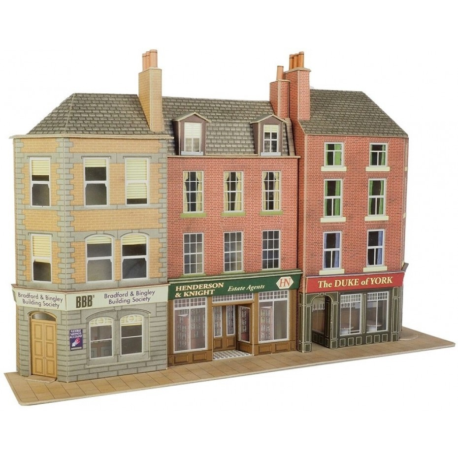 METCALFE - PO205 - LOW RELIEF PUB AND SHOPS (HO/OO SCALE)