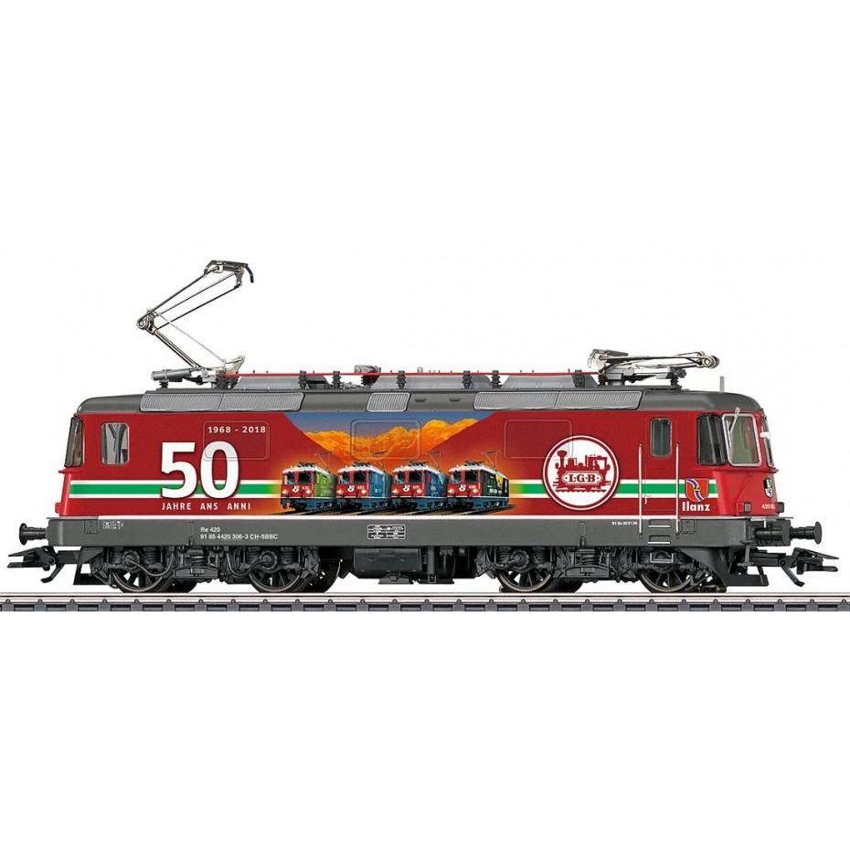 MARKLIN - 37351 - Electric Loco Re 4/4 II 50 Jahre LGB (HO SCALE) *3 RAIL AC*
