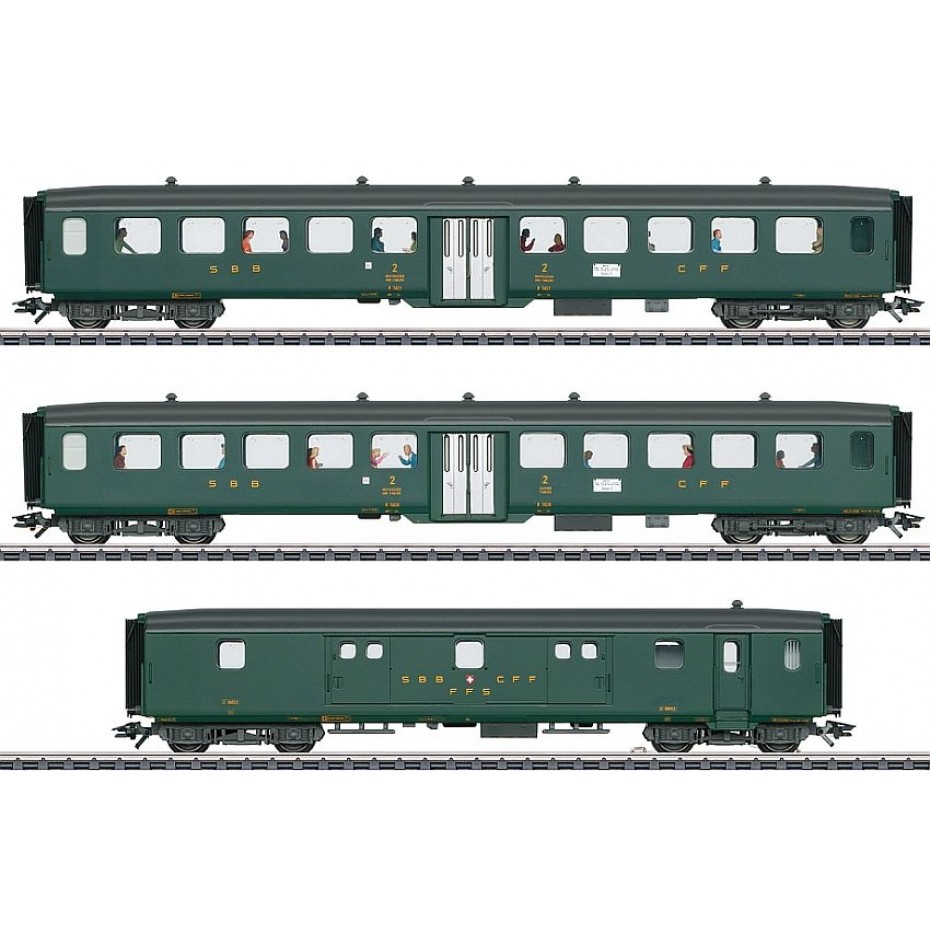 MARKLIN - 43385 - Express train.-Set 2 D96 zur V3 (HO Scale)