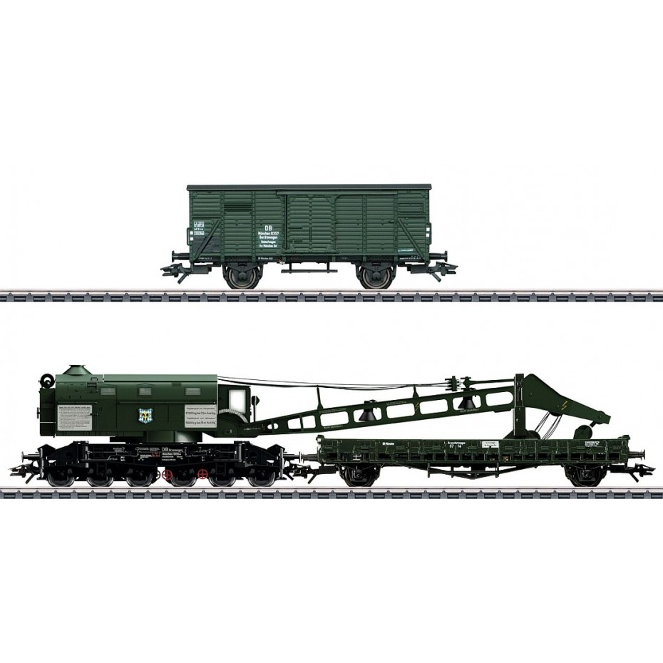 MARKLIN - 49570 - Steam Crane Ardelt 57t DB (HO SCALE) *3 RAIL AC*