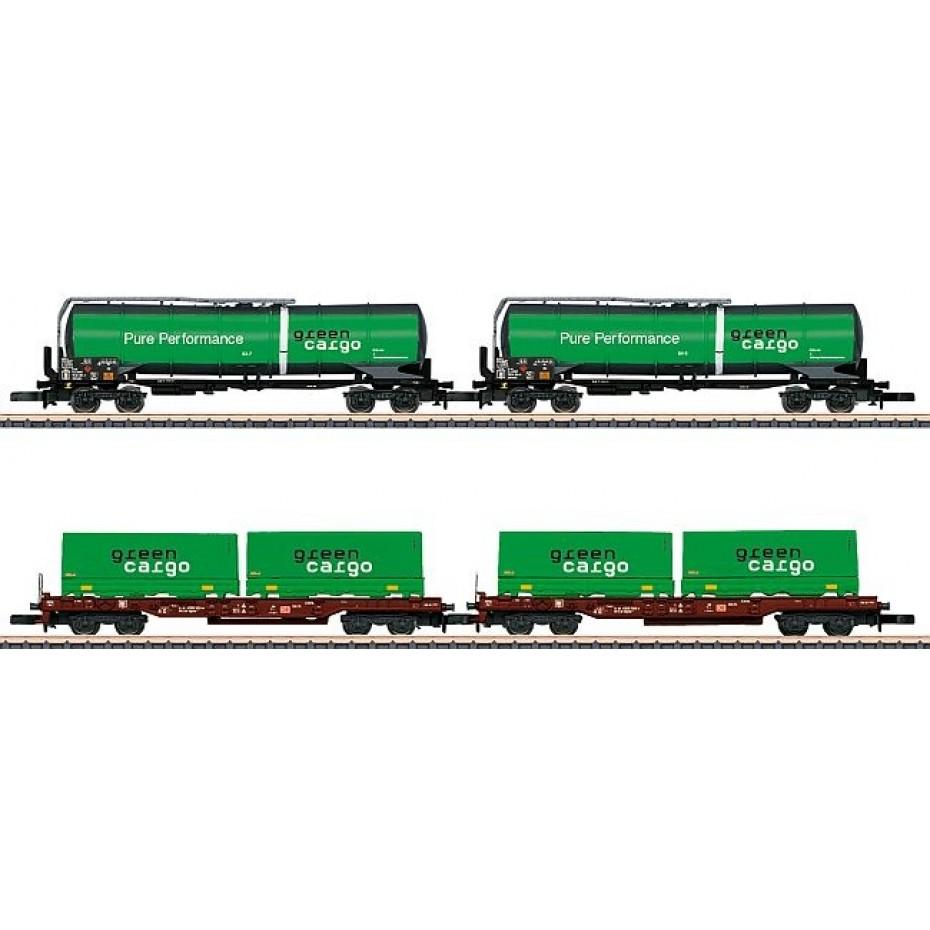 MARKLIN - 82533 - Güterwagen-Set Green Cargo (Z SCALE)