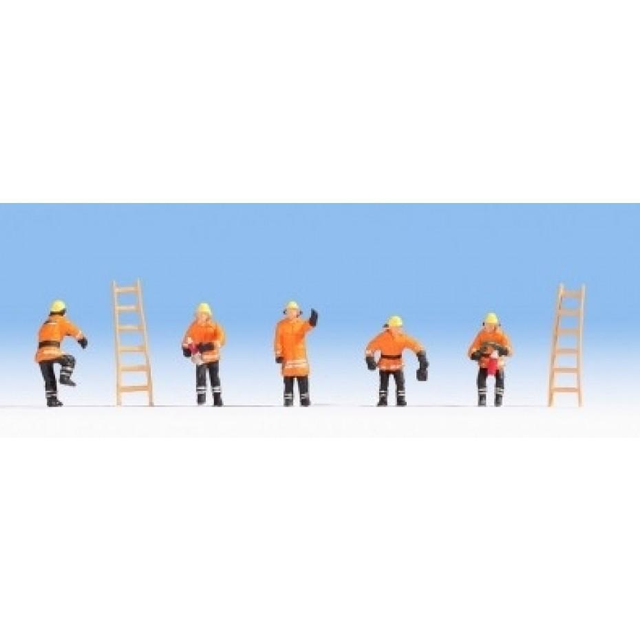 NOCH - 15022 - Fire Brigade (orange protective clothes) H0