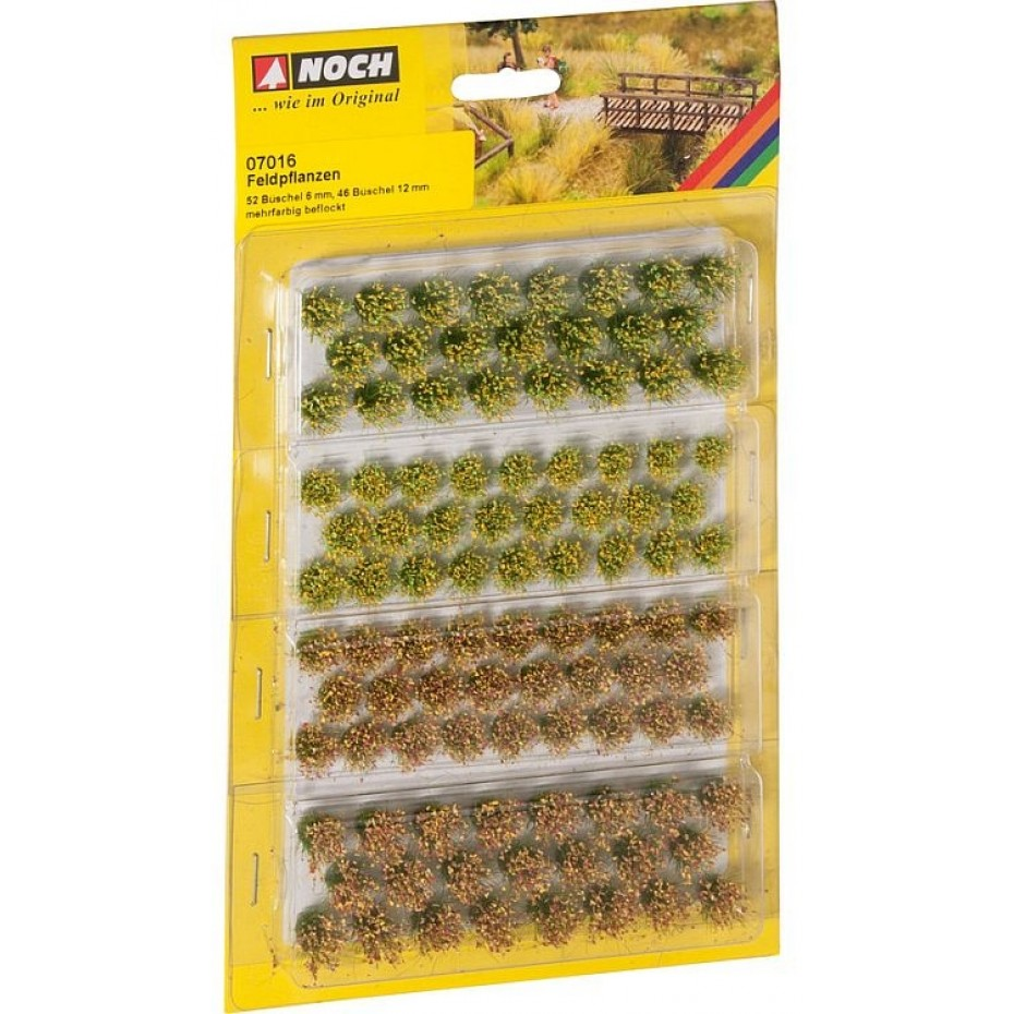 NOCH - 07016 - Grass Tufts Field Plants 52 pieces, 6 mm and 46 pieces, 12 mm G,0,H0,TT,N,Z
