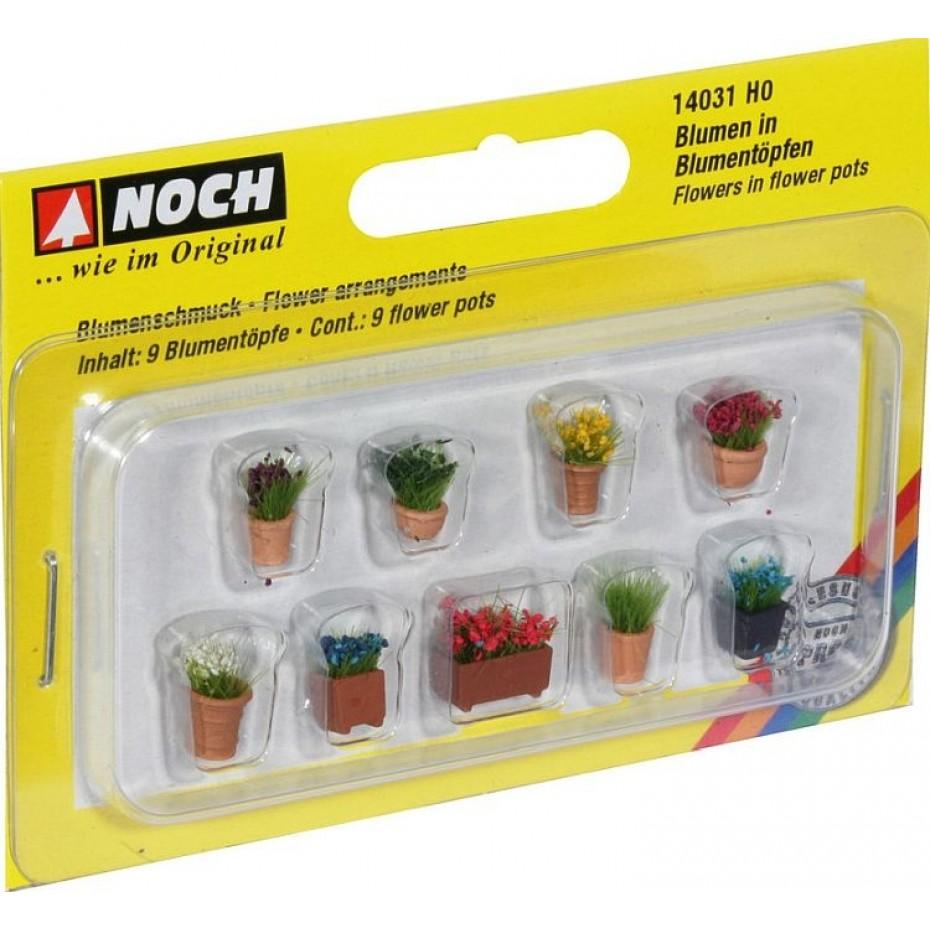 NOCH - 14031 - Flowers in Pots 9 flower pots H0