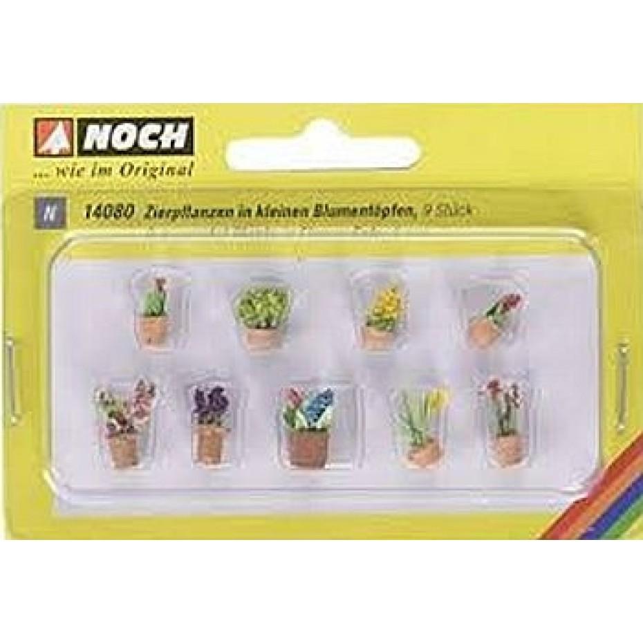 NOCH - 14084 - Flowers in Pots 9 flower pots N