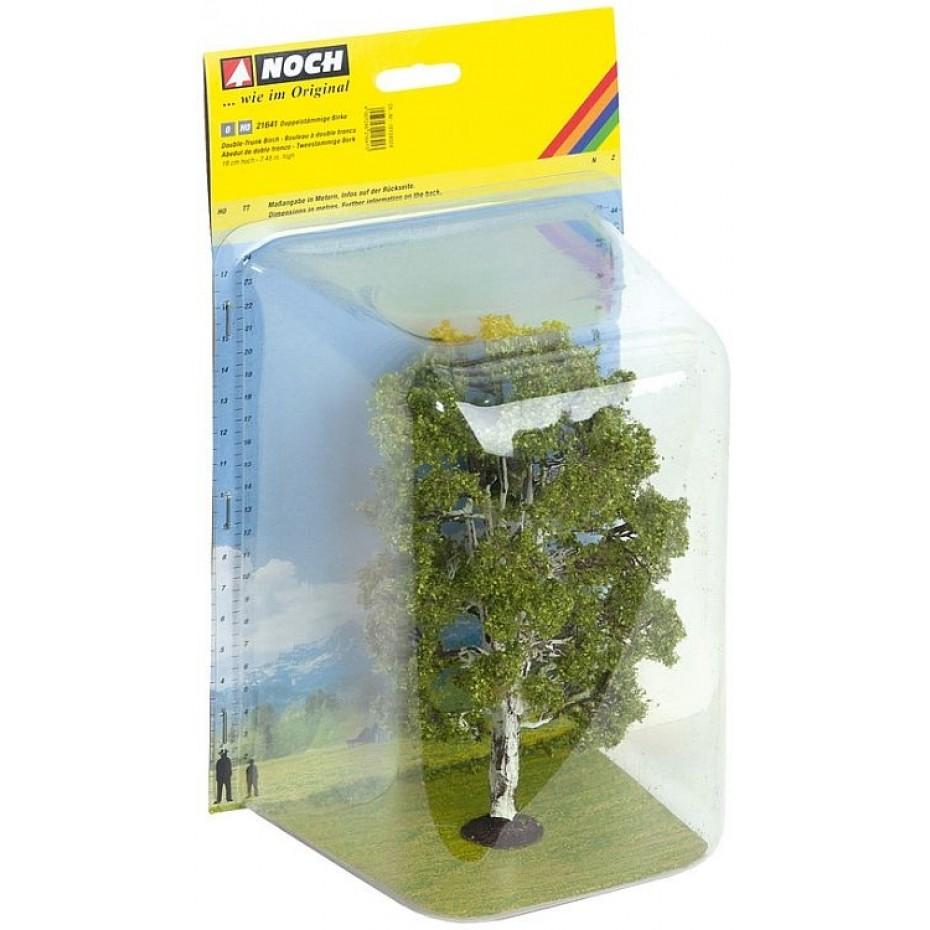 NOCH - 21641 - Double Trunk Birch Tree 19 cm high 0,H0